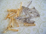 Image of Brooch Backs - 3 different sizes (Gold &amp; Silver)