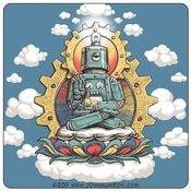 Image of Buddha Bot v6 Sticker 3 Pack