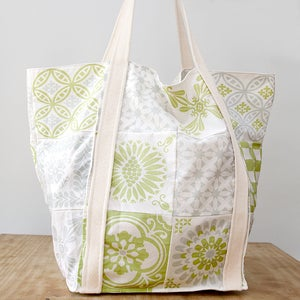 Image of Cotton BAG - Grey/Green