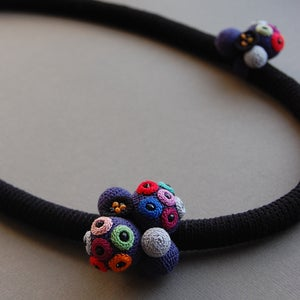Image of Japanese inspired crochet necklace
