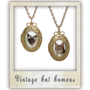 Image of Vintage Cat Cameo
