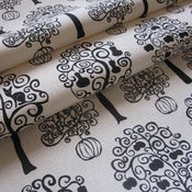 Image of Orchard - Black on hemp/organic cotton