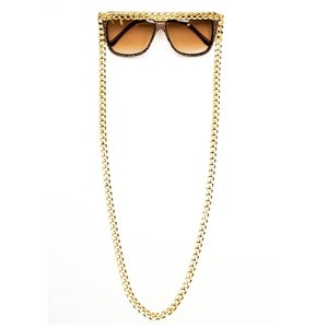 Image of LOVE / HATE CONVERTIBLE CHAIN SUNGLASSES
