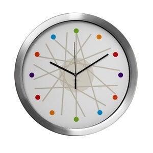 Image of haywire multi-color wall clock