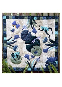 Image of Lilly Pond with Frogs quilt pattern
