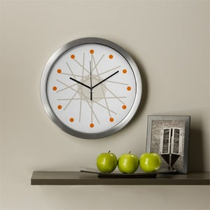 Image of haywire orange wall clock