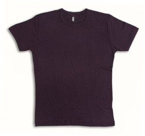 Image of Aubergine Bamboo Fair Wear T-Shirt.