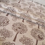 Image of Orchard organic cotton fabric - chocolate