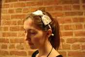 Image of Beaded bow headband on velvet: FREE SHIPPING