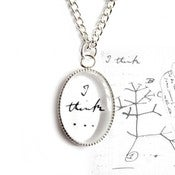 Image of I Think - Charles Darwin Necklace