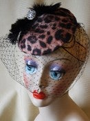 Image of Cheetah Cocktail Hat
