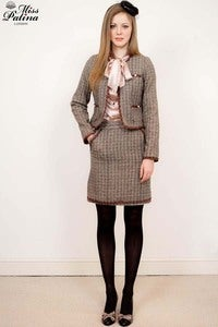 Image of Premium Collection Chanel Style Wool Suit