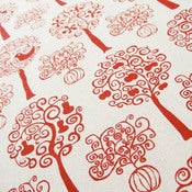 Image of Orchard - Red on organic cotton
