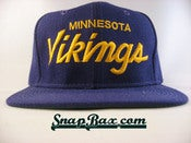 Image of VINTAGE MINNESOTA VIKINGS SCRIPT SNAPBACK