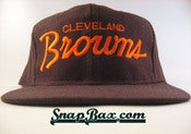 Image of VINTAGE CLEVELAND BROWNS SCRIPT SNAPBACK