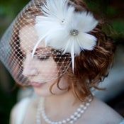 Image of RENNES - Bridal Feather Adornment 