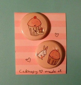 Image of Badges: 2-pack of CakeSpy Pins