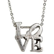 Image of LOVE necklace- Silver