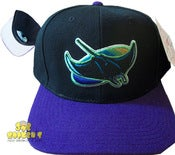 Image of Vintage Tampa Bay Devil Rays Bk/Purple Snapback Cap Hat