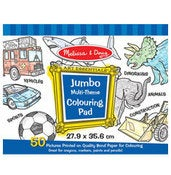 Image of Jumbo Coloring Pad - Blue