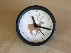 Image of deer in the headlights desk clock