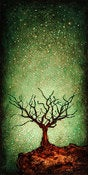 "Image of ""Solo Tree Dormant Green"" <br> Size: 12x6"" <br> 2nd photo shows size"