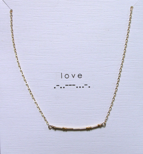 Image of morse code necklace