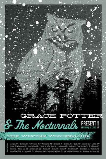 Image of Grace Potter & The Nocturnals - Winter Wondertour '11 (Steel Blue)
