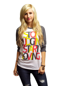 Image of Stop Judging Baseball Tee