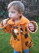 Image of Reversible double breasted coat pattern and tutorial 18m/2T/3T/4T - PDF