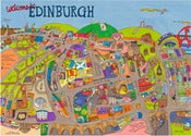 Image of Map of Edinburgh A3 Poster (297x420mm)