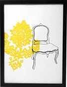 Image of Hand printed chair print