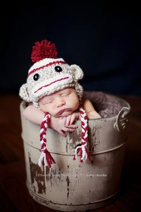 Image of Boy Sock Monkey Hat
