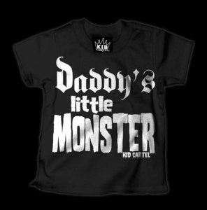 Image of Daddy's Little Monster T-Shirt Style # 1079