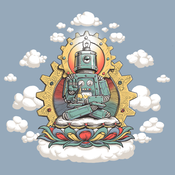Image of Buddha Bot Shirt - Women's Blue