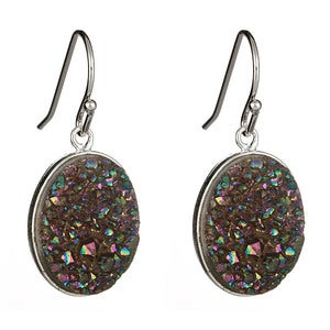 Image of Rainbow Druzy Earrings