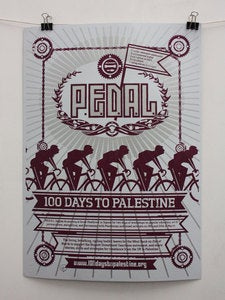 Image of P.E.D.A.L. 100 days to Palestine Poster