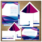 Image of Invitations | Wedding<BR>{Sassy Waves}