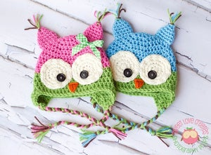 Image of Colorful Owl Hats