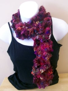 Sari Silk Cowl with Buttons Pattern  $2.99