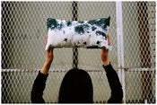 Image of :::storm::: hand-dyed rectangle pillow
