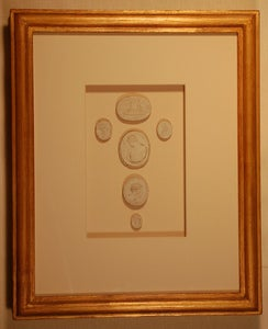 "Image of Framed Intaglios - ""Hanna Riley"" Design"