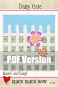 Image of Daisy Gate Quilt Pattern #121, PDF pattern
