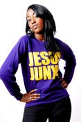 Image of JJ ORIGINAL PURPLE/YELLOW LOGO SWEATER - Unisex