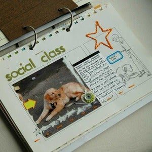 Image of vintage school days art journal