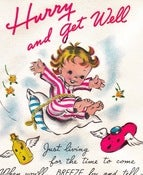Image of Vintage Greeting Card - Get Well  - 1948