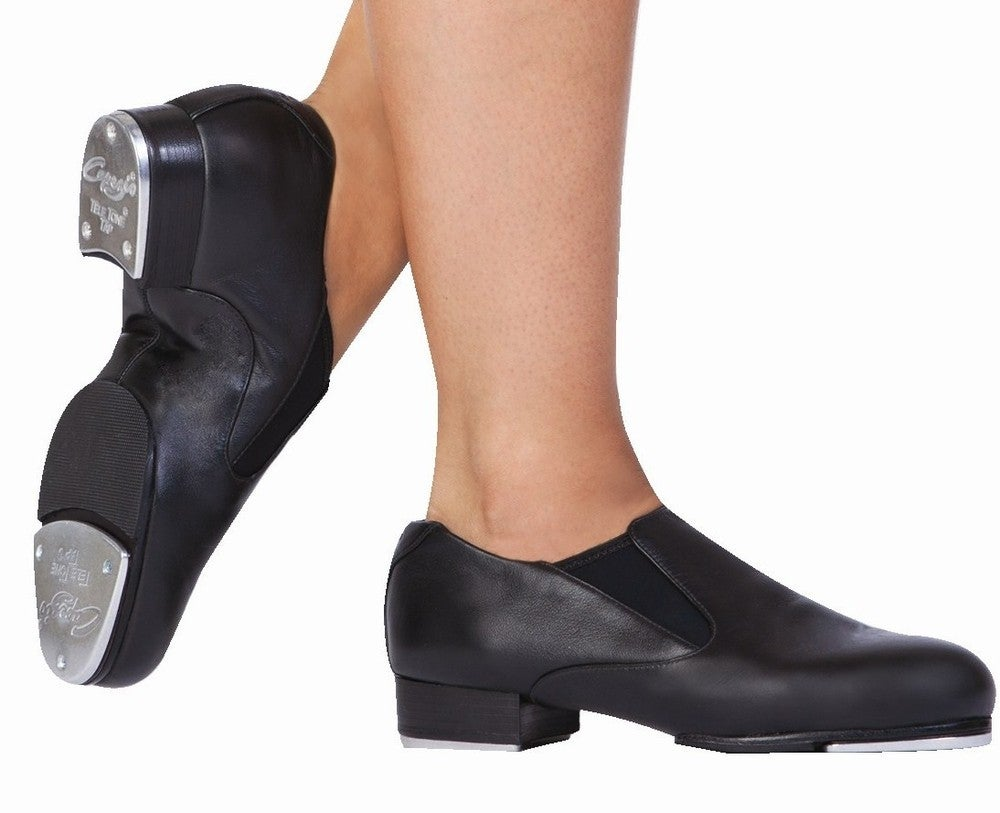 atj slip on tap shoes capezio black leather