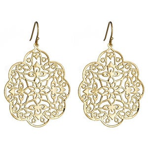 Image of Gold Paisley Earrings