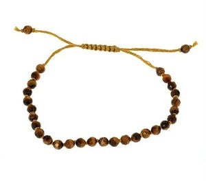 Image of Hand Knotted Tiger Eye Bead Bracelet