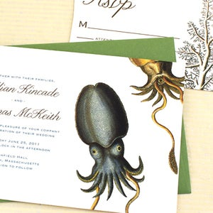 Image of Cuttlefish Wedding Invitation - Sample